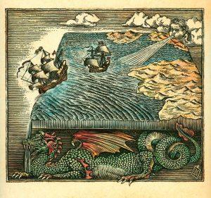 flat earth dragon
